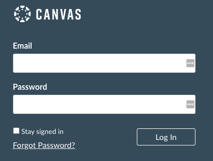 FAQ - Canvas sign-in form